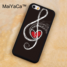 MaiYaCa Red Heart and Music Note Printed Soft Rubber Mobile Phone Cases For iPhone 5 5S Back Cover For iphone SE Shell Cover(China)