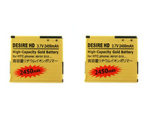 Seasonye 2pcs/lot 2450mAh BD26100 Gold Replacement Battery For HTC G10 Desire HD Surround T8788 T9199 A9191 Inspire 4G A9192 ect