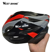 WEST BIKING Protecting Helmets Cycling EPS Cycle Mountain Integrally-molded BMX Bicycle Helmet Riding Equipment 21 Vents Holes