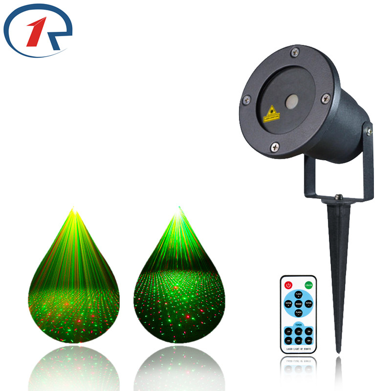 ZjRight IR Remote Outdoor courtyard RG Laser Stage light IP65 Projector sky star Xmas tree Decorative lights Holiday party light<br>
