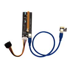 2017 New Riser Card USB 3.0 PCI-E Express 1X To 16X Riser Card USB 3.0 Extender Cable& 15Pin SATA to 4Pin Power Cable For Mining
