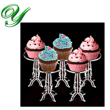 6pc Cupcakes display stand fruits acrylic tier tower buffet serving tray holder wedding party table decoration tools supplies