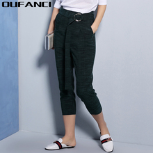 OUFANCI Brand 2017 Women Pants Trousers Winter High Waist Outer Wear Women female Fashion Slim Warm Thick Cotton Pants Trousers