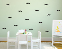 60pcs Nursery  Mustache vinyl Decals,removable PVC stickers for wall kitchen bathroom car furniture cabinet fridge door decor