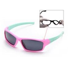 Crianças Dobráveis Óculos De Titânio Polarizado TR90 Segurança Silicone  Flexível Crianças Óculos de Sol Meninas Meninos Rosa Inf.. 0bdb96fcd1