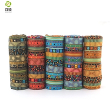 Floral African Cotton Linen Fabric DIY Christmas Decoration Fabric For Patchwork Dress Sofa Curtain45X45CM M1-5-6(Hong Kong,China)