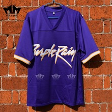 MM MASMIG Prince Tribute Purple Rain American Football Jersey Purple For Free Shipping