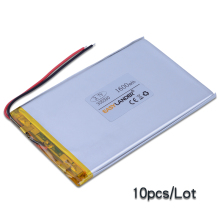 10pcs/Lot 3.7V 1600mAh li Polymer Li-ion Battery For Bluetooth LED Light Notebook Tablet PC PDA GPS PS Toys E-book 305590
