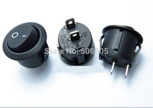 Free shipping KCD1-105 rocker switch round switch Rocker Switch Power Switch 6A/250V 10A/125V 10pcs/lot