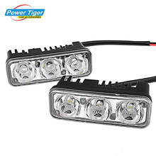 2 pcs/lot Waterproof Car Daytime Running Light High Power Aluminum Alloy LED DRL(China)