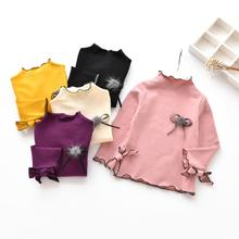 New 2017 Fall Winter Spring Base Shirt Girls Shirts Kids Children Long Sleeve Girl Tops And Blouse Baby Toddler Clothes JW3052(China)