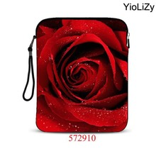 9.7 10.1 inch Universal tablet case mini notebook Cover Ultrabook protective sleeve rose print smart laptop bag pouch IP-572910