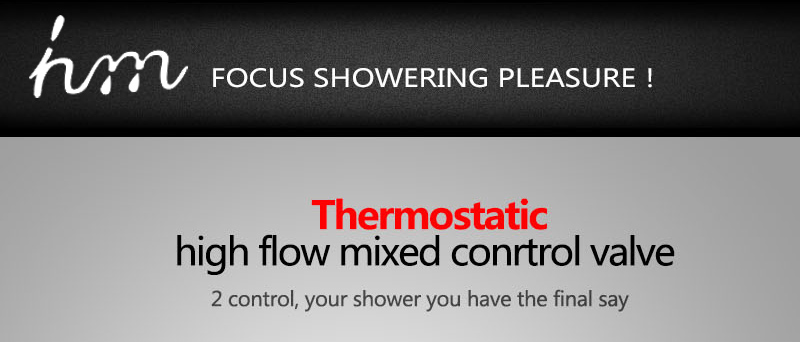 hm 2 Functional Channels High Flow 70L Temperature Thermostatic Controller Water Mixer Bath Shower Brass Chrome Mixer Finishing (18)