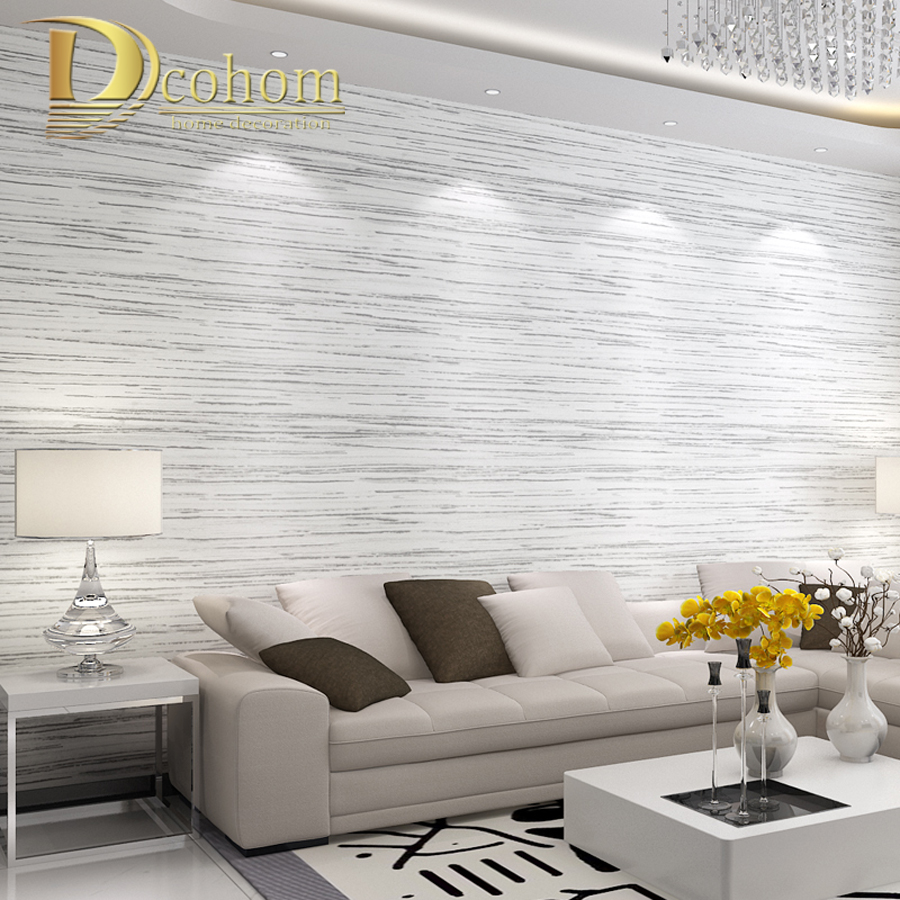 Simple Modern Textured Horizontal Striped Wallpaper For Walls Living