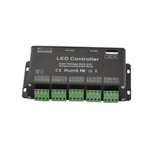6CH Easy rgb dmx controller, DC12-24V,or DC5V led controller for led strip,led neon,led fixtures,popular at Russia,USA(China)