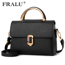 FRALU Women Bag Pu Leather Tote Brand Name Bag Ladies Handbag Lady Evening Bags Solid Female Messenger Bags Travel Fashion Sac(China)