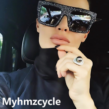 Myhmzcycle 2017 Paris Hilton alike Sun Glasses Fashion Luxury Rhinestones Diamond new Shades Sunglasses Men Women Brand Designer(China)