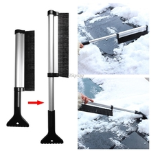 Extendable Telescoping Car Ice Scraper Shovel Snow Brush Outdoor Removal Clean Tool For Auto Car Accessories Drop shipping(China)
