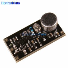 Free Shipping 88-108MHz FM Transmitter Wireless Microphone Surveillance Frequency Board Module DC 2V-9V