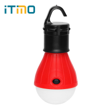ITimo LED Bulb Energy Saving Portable Outdoor Lighting Tent Lamp 4 Colors Soft Light For Camping hunting Lantern 3 Modes