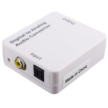 Optical Digital Coaxial For Toslink Signal To Analog Audio Converter