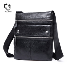 KUJING Leather Men Bag Hot High-end Leather Men's Shoulder Messenger Bag Leisure Leather Ipad Bag Cheap Leather Clutch Male Bag