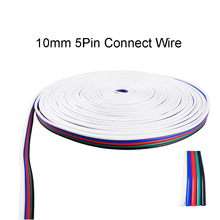 10 meters RGBW 5pin Extension Electric connector wire 5 channel extend cable for RGBW led strip conector for strip RGBW(China)