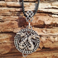 1pcs New Arrival Fashion new double dragon necklace dragon jewelry pendant Nordic jewelry Viking charm pendant SanLan