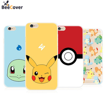 BeeCover For iPhone 6 7 8 Phone Case Pokemons Go Soft Silicon TPU Funda Cover for Apple iPhone 6 6plus 5S SE 7 7plus Cases Coque(China)