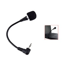 Besegad Flexible Mini 3.5mm Jack Plug Wired Audio Microphone Mikrofon Microfone Mic for Computer Laptop Notebook Tablet PC Skype