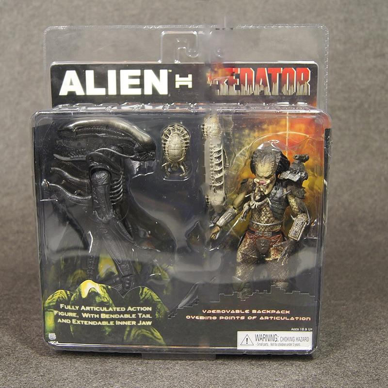 NECA Alien VS Predator Tru Exclusive 2-PACK PVC Action Figure Toy 2-pack<br>