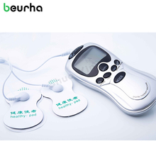 Beurha TENS Body Healthy Care Digital Meridian therapy massager machine Slim Slimming Muscle Relax Fat Burner pain 4 pad massage(China)