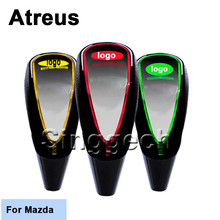 Atreus New Gear Shift Knob Car-styling Touch Sensor LED Light Colourful 5/6 speed For Mazda 3 6 2 CX-5 CX5 CX-7 Car Accessories
