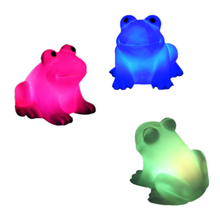 NEW Energy Magic LED Cute Frog Night Light Novelty Lamp Changing Colors Colorful CLH(China)