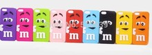1pcs Case For iPhone 5 5s Rubber 3D M&M Fragrance Chocolate M Rainbow Beans Case for iphone 5s Soft Silicon mobile phone cases