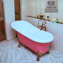 Bathroom Environmental protection acrylic bathtub double layer heat insulation bathtub fashion ikbal bathtub 1.2 - 1.5 meters(China)