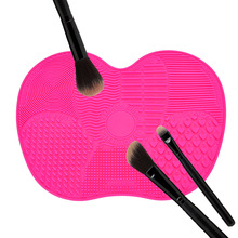 Silicone Makeup Brush Cleaning Mat Washing Tools Hand Tool Large Pad Sucker Scrubber Board Washing Cosmetic Brush Cleaner Tool