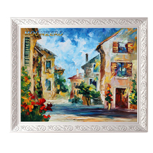 Italy Stree 5D DIY Diamond Embroidery Pattern Square Drill Crystal Mosaic Embroidery Landscape Diamond Cross-Stitch kits Craft