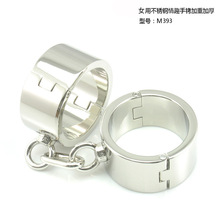 Buy stainless steel metal hand cuffs bdsm fetish wear Bondage restraints handcuffs sex erotic toys adult game sex toys women