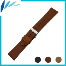 Genuine Leather Watch Band for Diesel Watchband 22mm Men Women Quick Release Strap Wrist Loop Belt Bracelet Black Brown + Pin(China)