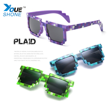 Fashion Sunglasses Kids cos play action Game Toys Minecrafter Square Glasses gifts children(China)