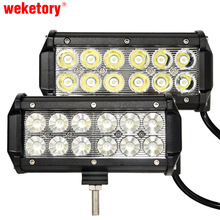 "weketory 7"" inch 36W LED Work Light Lamp for Motorcycle Tractor Boat Off Road 4WD 4x4 Truck SUV ATV Spot Flood 12v 24v(China)"