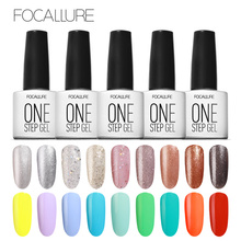 Focallure One Step Gel Nail Polish UV LED Lacquer Manicure No Need Base Top Coat Esmaltes Permanentes De UV Color(China)