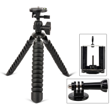 ZOMEI Mini Flexible Desk Travel Tripod accessories for Canon Nikon iPhone Xiaomi GoPro Action Camera Table Desk Tripod Stand