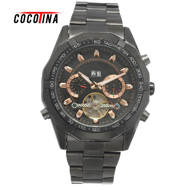 COCOTINA Genuine Mens Automatic Mechanical Watch Business Casual Watch Automatic Movement Retro Sports Watch LJX9163<br>