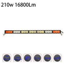 210w 38Inch Dual Color White Yellow Amber Single Row Led Work Light Bar with Fog light for Jeep Truck Pickup with Combo or Spot(China)