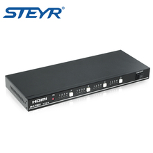 STEYR HDMI 4x4 HDMI True Matrix Video Switch Splitter with RS232 hdmi matrix Support 1080p,3D,remote control switch