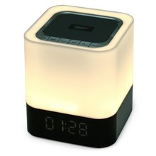 Musky DY28 LED Shining Portable Wireless Bluetooth Stereo Speaker AUX Audio Input Handsfree Call Time Alarm USB Music Player