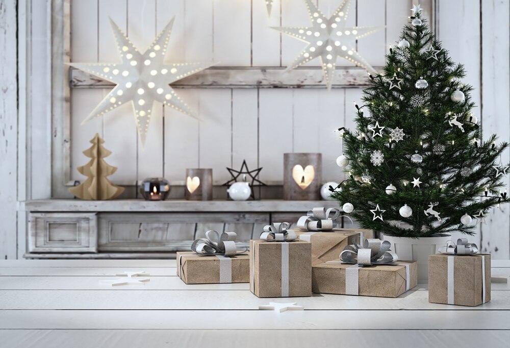 5x7ft Waterproof cotton polyester Horizontal Christmas Backdrop Photography Prop Newborn Background XT-5669<br>