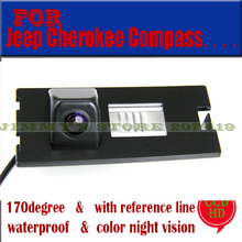 Color CCD for sony chip camera Free Shipping forJeep Cherokee CompassCompass Car Rear View Camera Reverse Backup parking aid